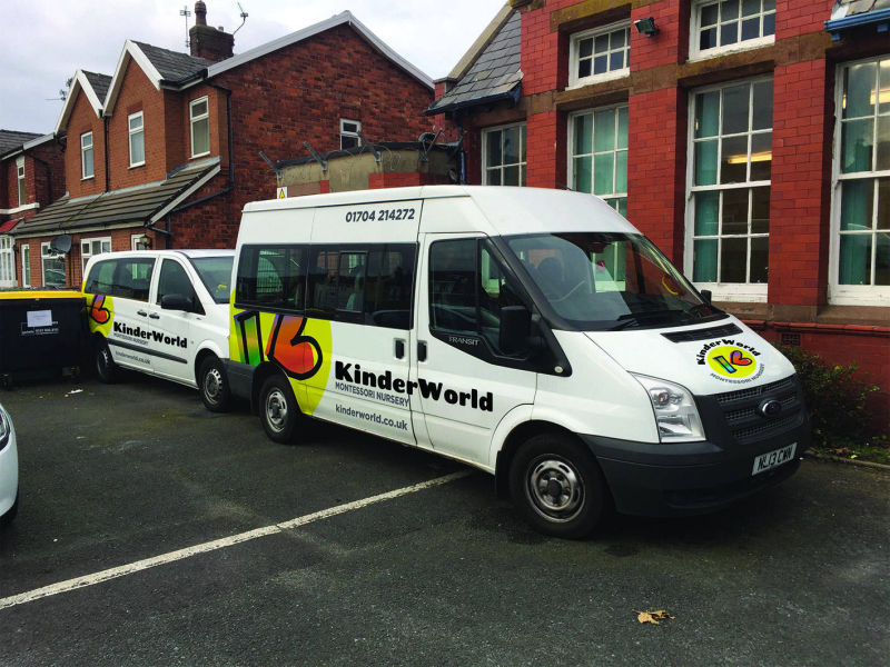 Vehicle graphic design Southport Merseyside